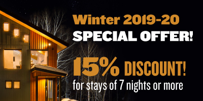 15% Discount for stays of 7 nights or more at Niseko East Mountain Chalets
