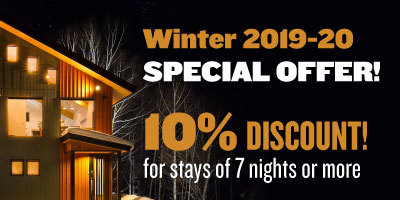 10% Discount for stays of 7 nights or more at Niseko East Mountain Chalets
